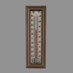 thermometer 3d obj