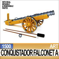 3ds conquistador cannon falconet 1500