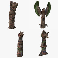 Wood Totems
