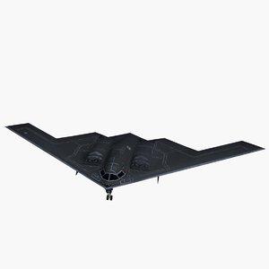 3d model northrop spirit stealth bomber