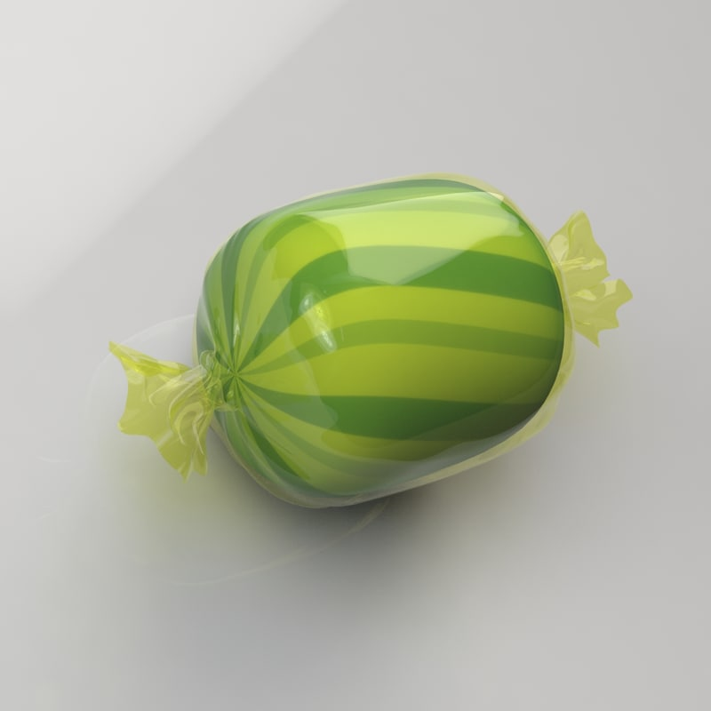 3d model hard candy