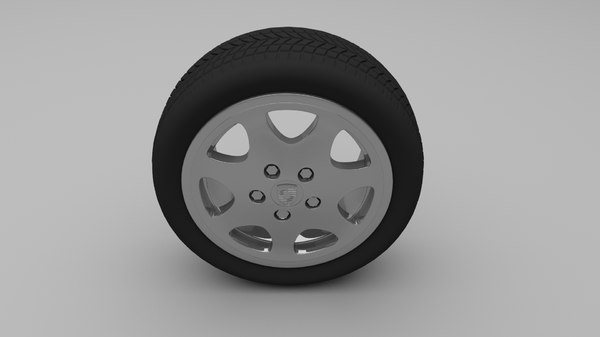 porsche wheel obj