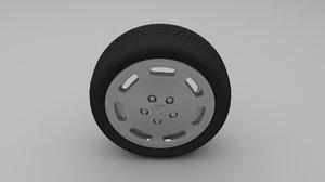 3d obj porsche wheel