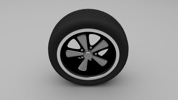 porsche wheel 3d obj