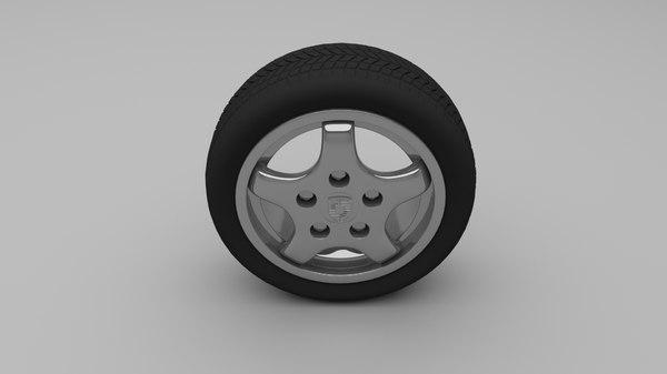 obj porsche wheel
