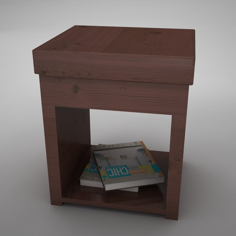3ds max night table
