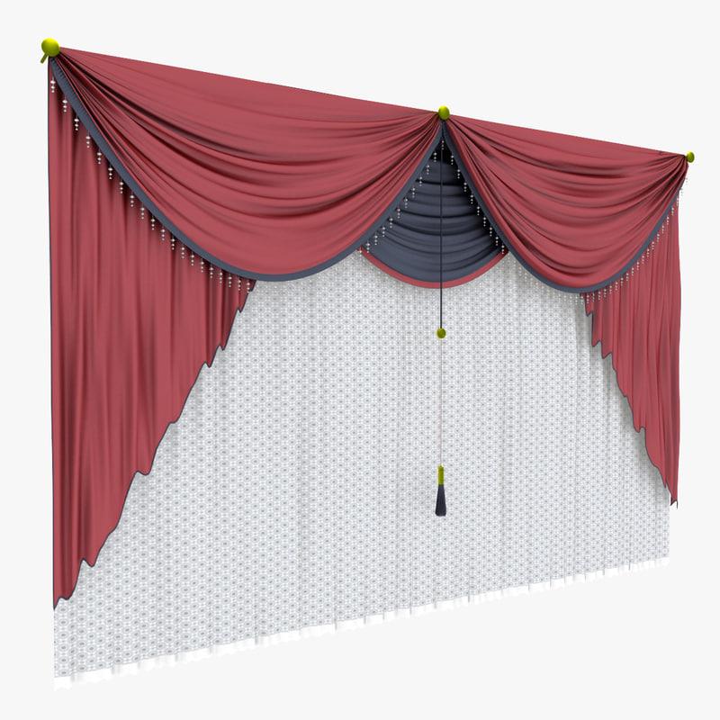 curtain 1 3d max