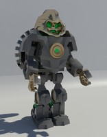 3d lego character 44025 drill model