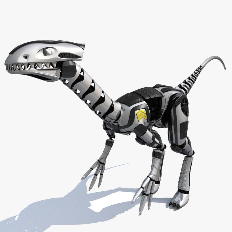 3d dinosaur robot