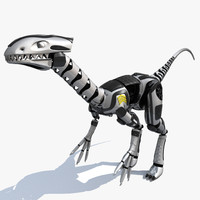 Dinosaur Robot (Not Rigged)