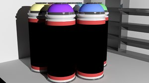 3ds max graffiti cans