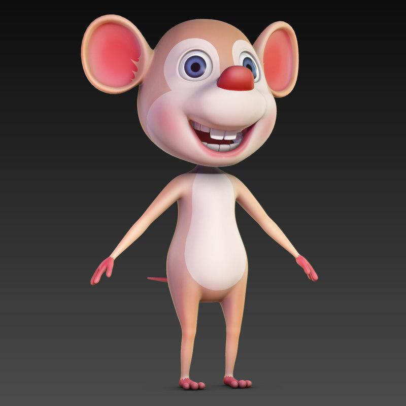 cartoon use character animation 3d obj
