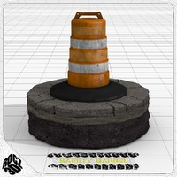 safety traffic barrel 3ds