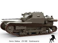 3ds max cv-35 carro veloce