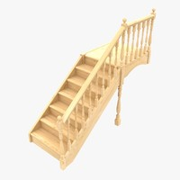 3d staircase wood