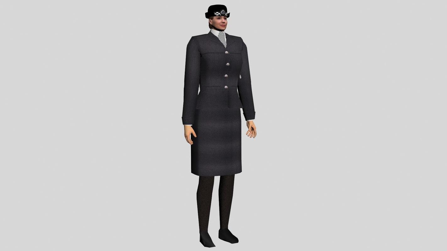3d british police model