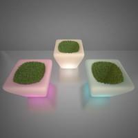 illuminated planters x