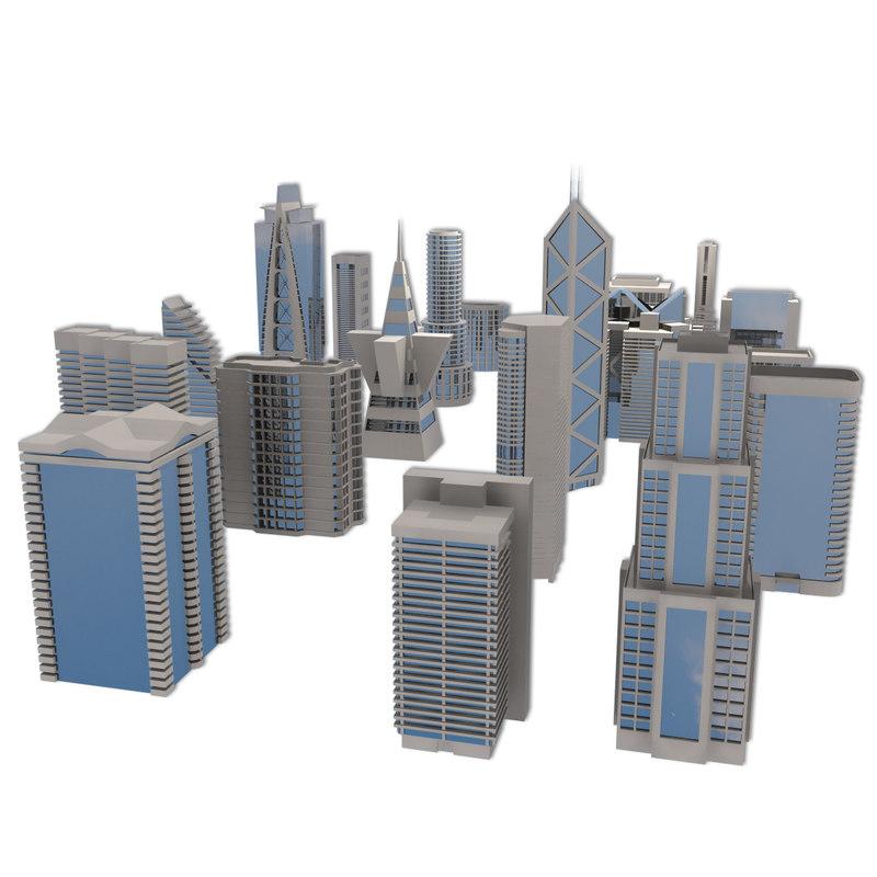 3ds max city buildings