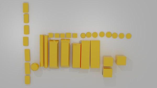 gold bar 3ds