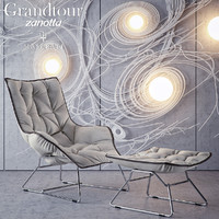 3d grandtour chair pouf zanotta model
