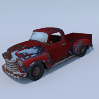 Chevy 1950 Damaged Low poly
