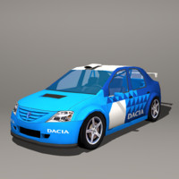 Dacia Logan Low Poly + 2 LODs