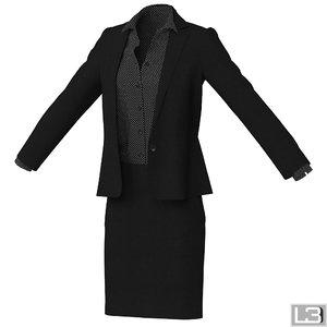 3d woman clothes model