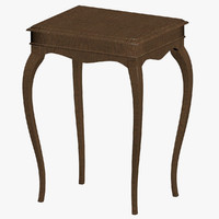 3d model classical antique table