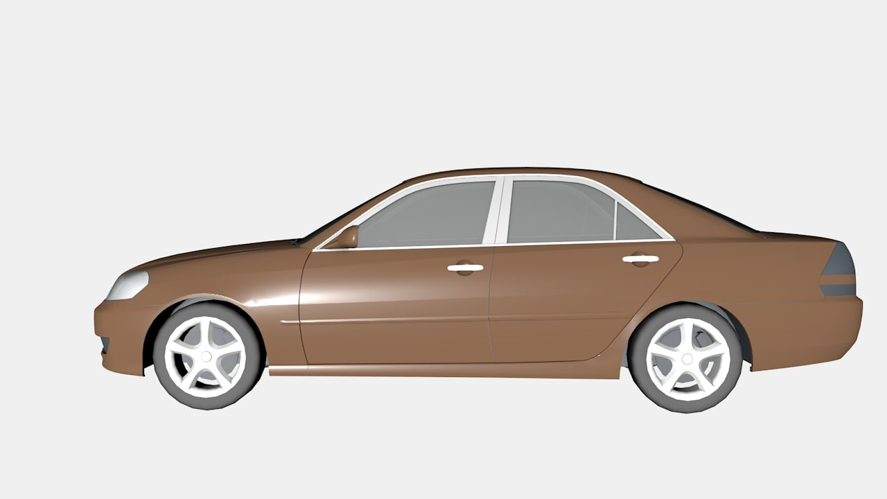 3d toyota mark ii x110 model