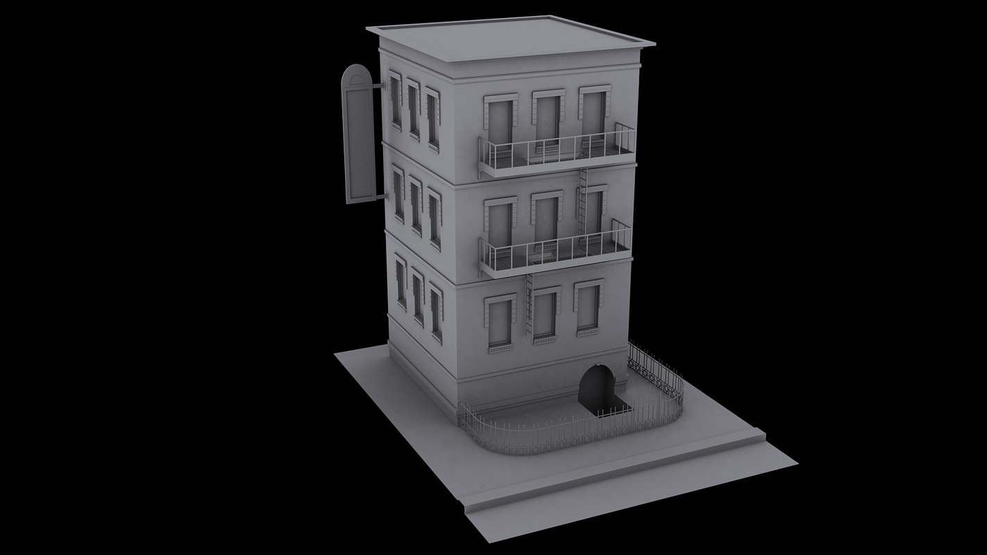 3ds max new york apartment building