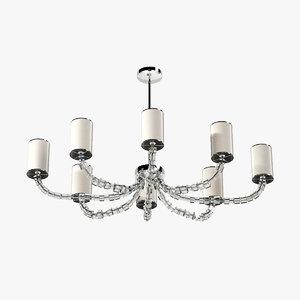 3d model porta oval lartigue chandelie