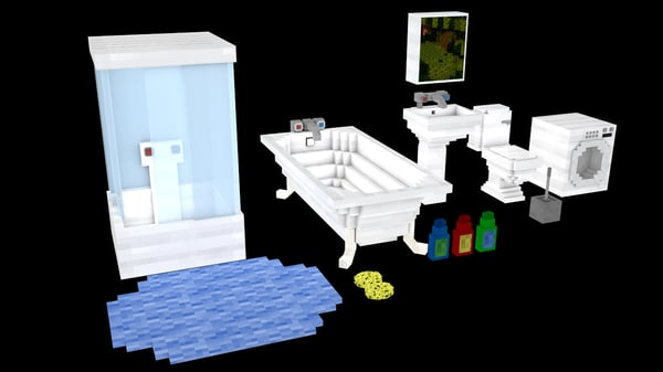 cinema4d bathroom minecraft