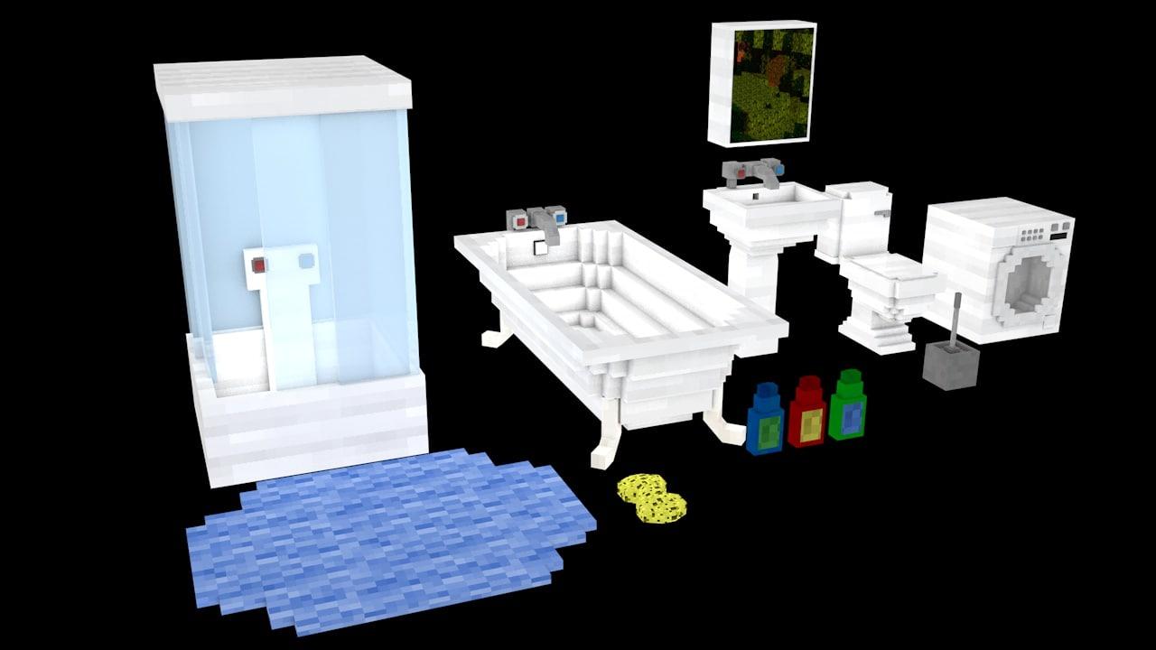 cinema4d bathroom minecraft