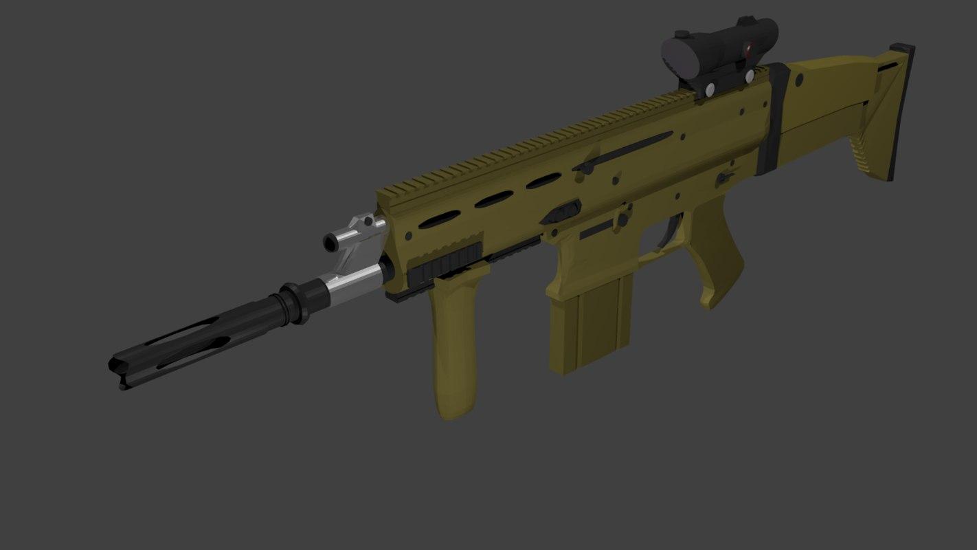 scar-h mk 17 3d model