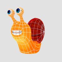 3d snail animation model
