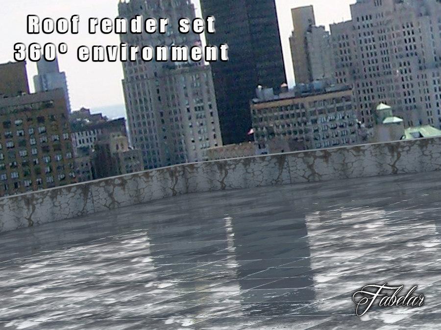 3ds roof rendering set