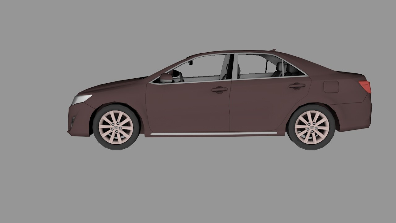 3d toyota camry model