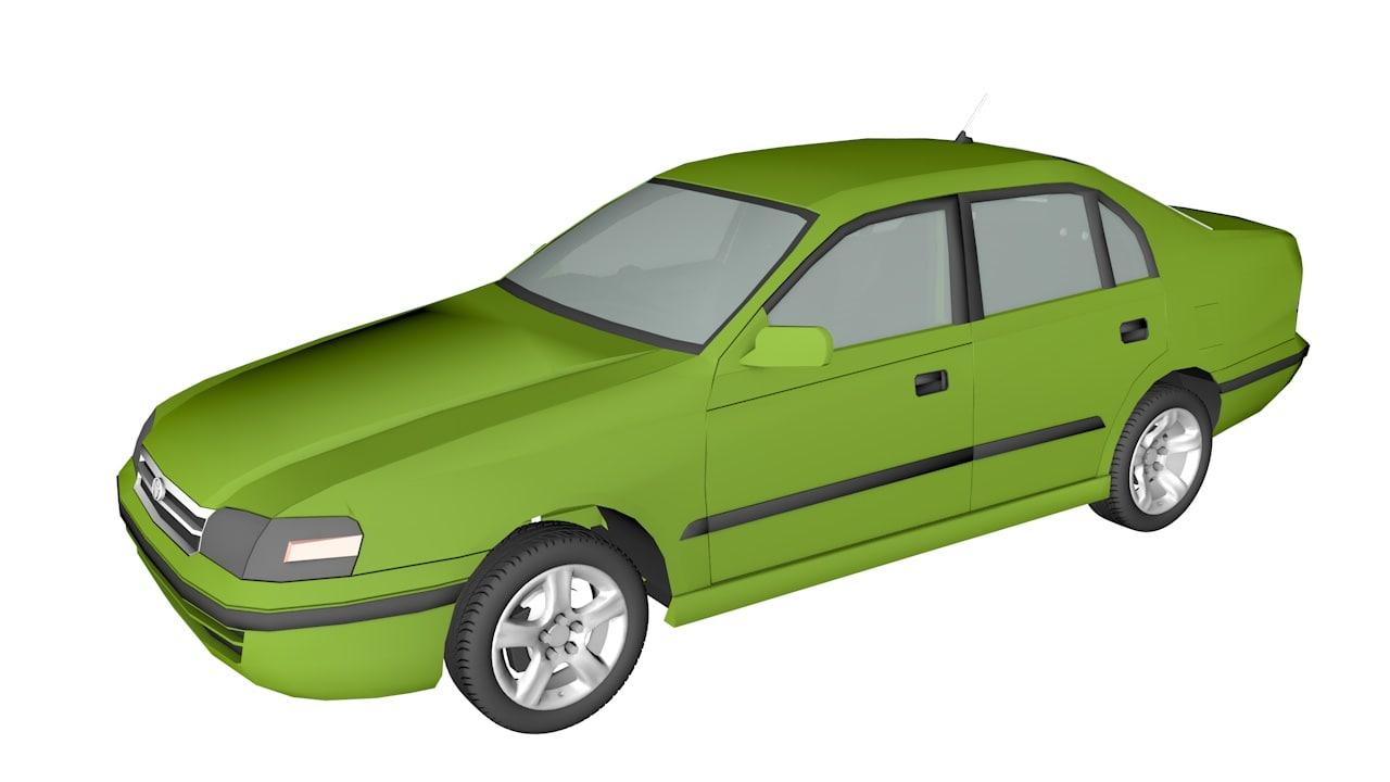 toyota corona 3d model