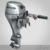 boat motor 20 3d model