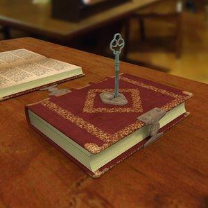 book key 3d model