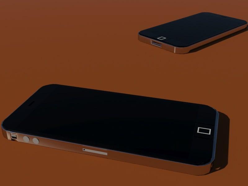 mobile phone 3d max