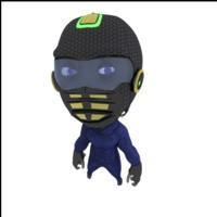 3d alien rigged model