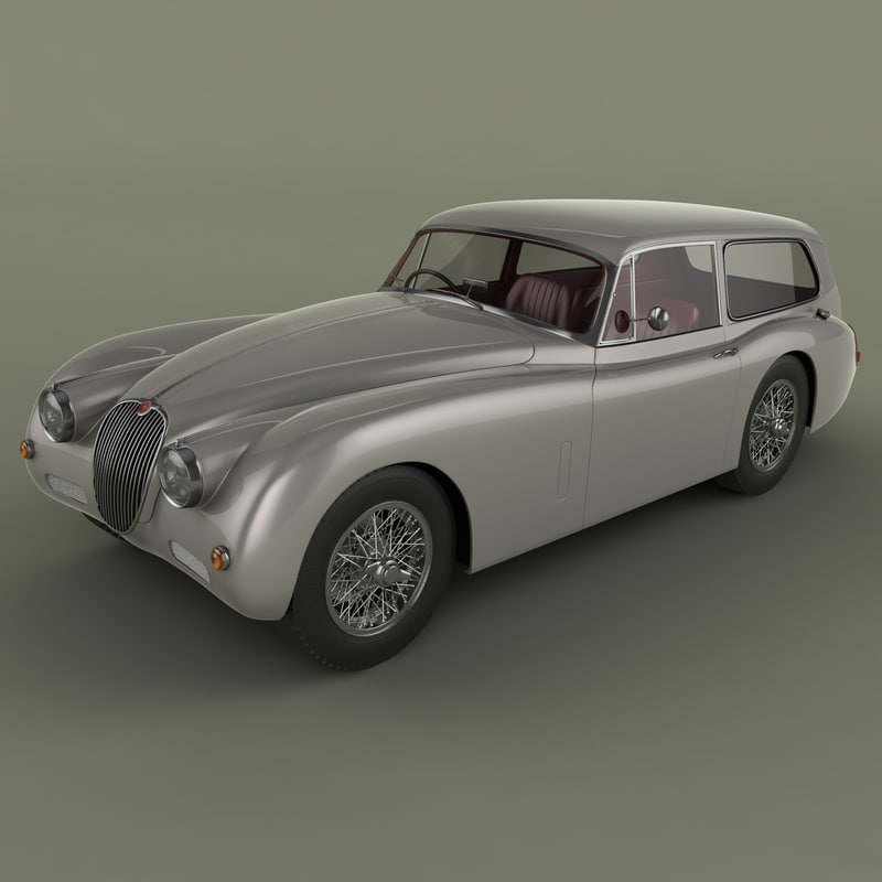 3ds max 1959 xk150 tow car