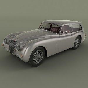 3ds max 1959 xk150 tow car