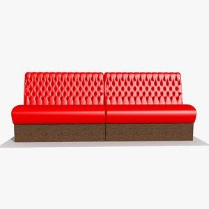 3d restaurant bar sofa chair