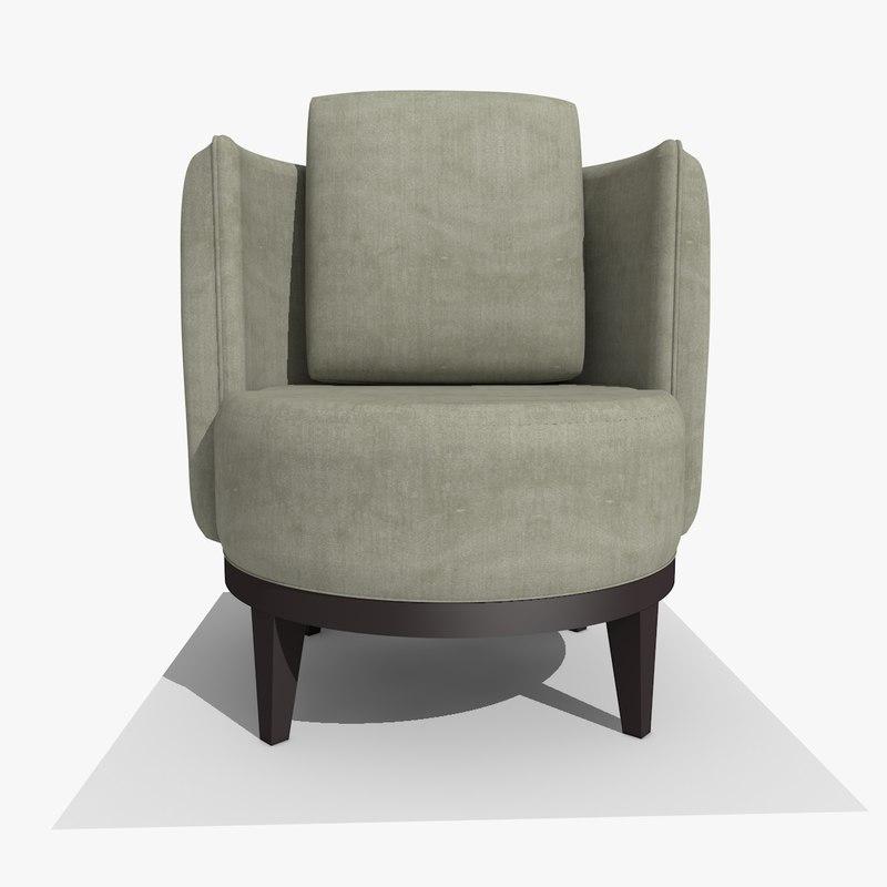 modern tub chair 3d 3ds