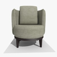 modern tub chair 3d 3ds