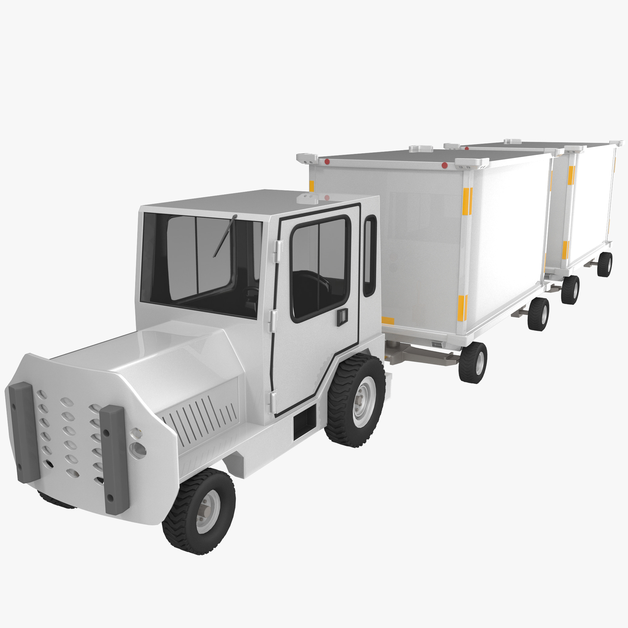 3d baggage truck