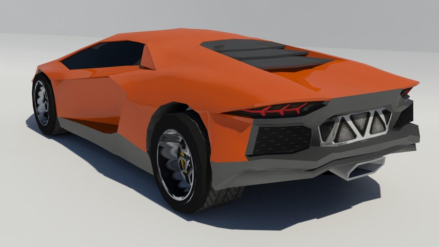 3d model lamborghini aventador