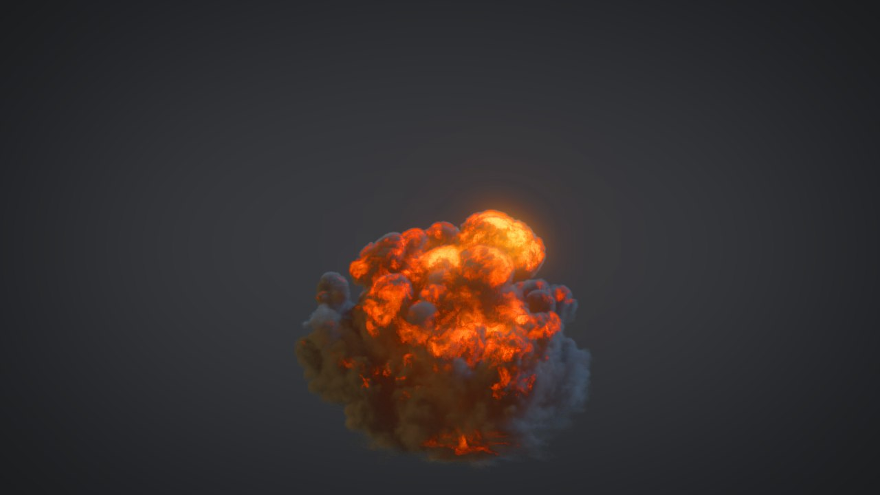 explosion effects 3d model